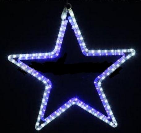 Фигура световая Звезда цвет белый/синий, размер 56 х 60 см