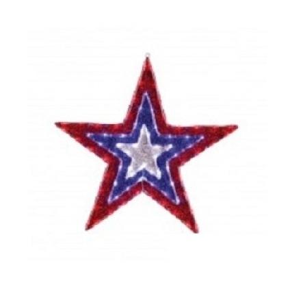Фигура Звезда бархатная, размеры 91 см