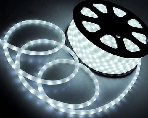 Дюралайт 2-х проводный D 10 мм неоновый белый