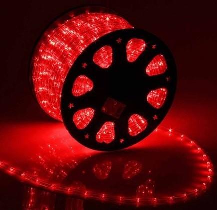Дюралайт 2-х проводный D 10 мм красный
