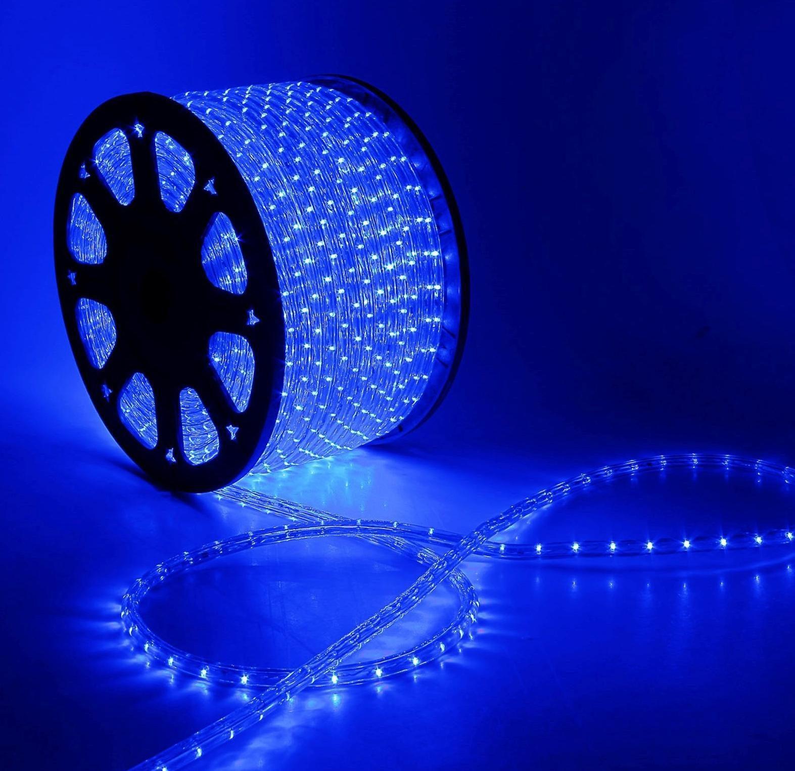 Дюралайт 2-х проводный D 10 мм синий