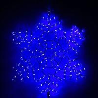 Снежинка дюралайт 54х54 см,120/20 LED,мерцание,220V СИНИЙ-БЕЛЫЙ