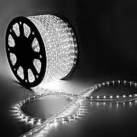 Дюралайт LED, свечение с динамикой (3W) - белый Эконом 24 LED/м , бухта 100м