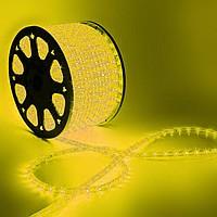 ДДюралайт LED, свечение с динамикой (3W) - желтый, 24 LED/м, бухта 100м