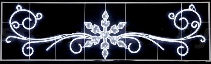 Фигура световая Снежинка с кружевами