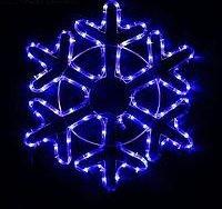 Снежинка дюралайт 52х52 см,96/16 LED, СИНИЙ-БЕЛЫЙ