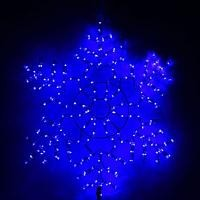 Снежинка дюралайт 85х85 см,264/44 LED,мерцание,220V СИНИЙ-БЕЛЫЙ