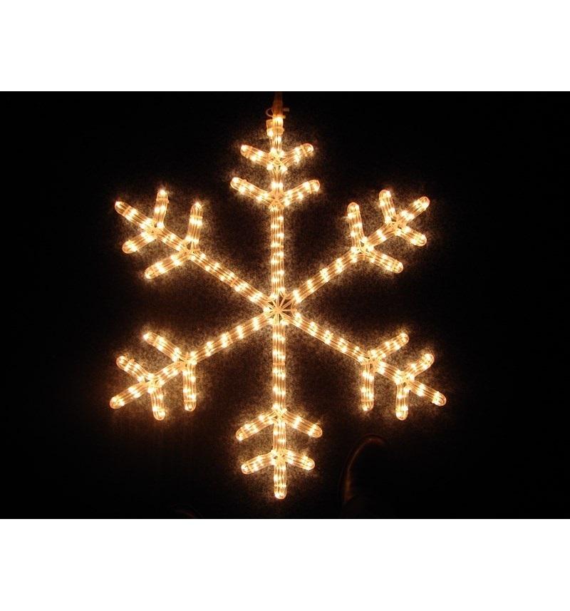 Фигура Снежинка цвет теплый белый, размер 45*38 см