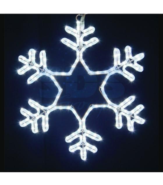Фигура световая Снежинка цвет белый, без контр.