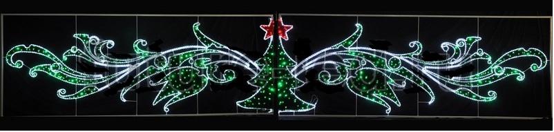 Фигура световая Елка со звездой размер 8х1.5м
