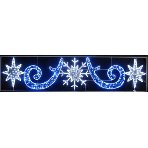 Фигура световая Снежинка со звездами