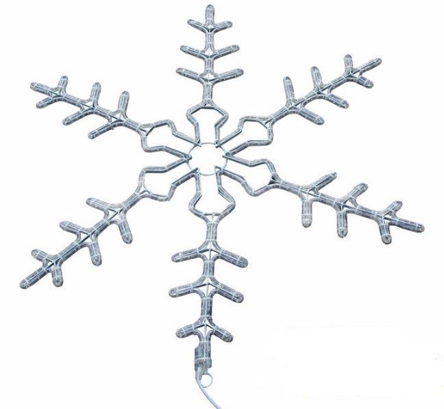 Фигура световая Снежинка цвет белый, размер 95 см, мигающая (2В с контроллером)