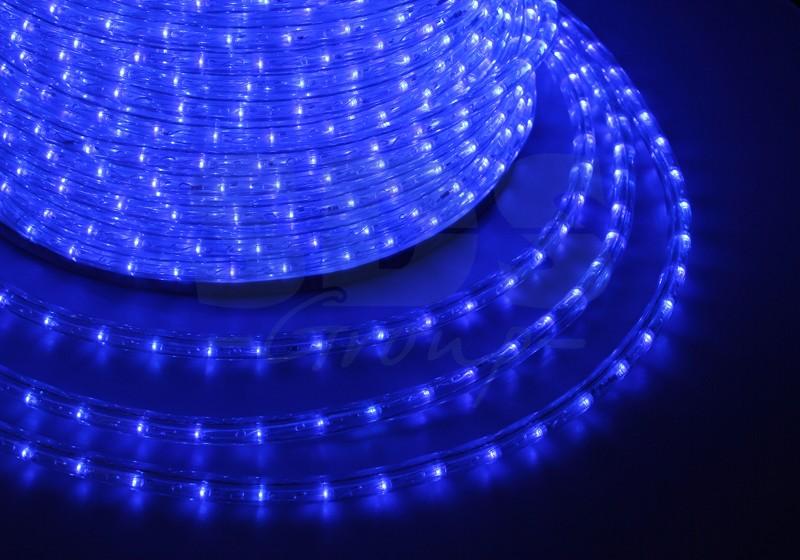 Дюралайт LED, свечение с динамикой (3W) - синий, 24 LED/м, бухта 100м
