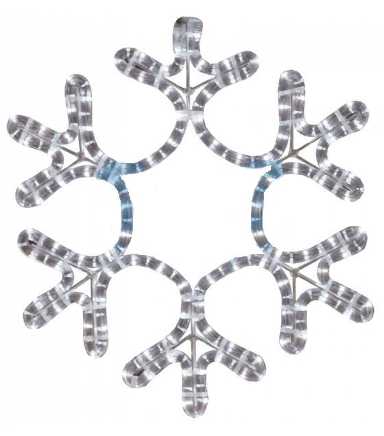 Фигура Снежинка цвет теплый белый
