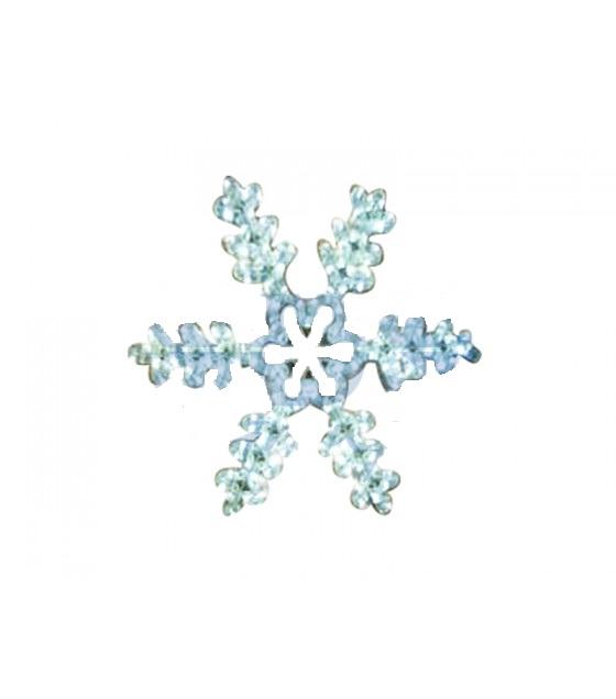 Фигура световая Снежинка резная цвет белый, размер 45*38 см