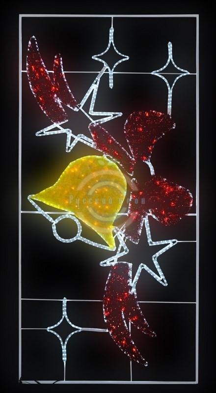 Фигура световая Колокольчик с бантом