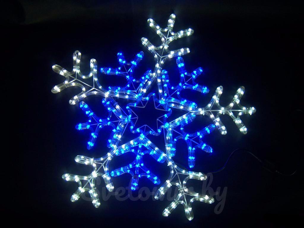 Фигура снежинка из дюралайта