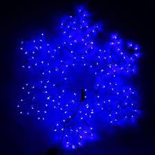Снежинка дюралайт 80х80 см,192/32 LED,мерцание,220V СИНИЙ-БЕЛЫЙ