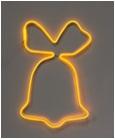 Каркасный колокольчик желтый
