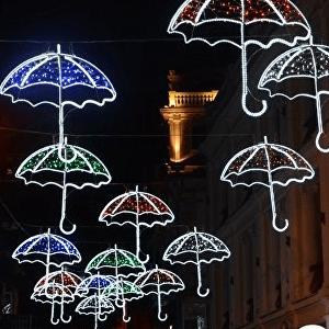 Световые зонтики