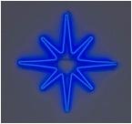 Каркасный мотив звезда