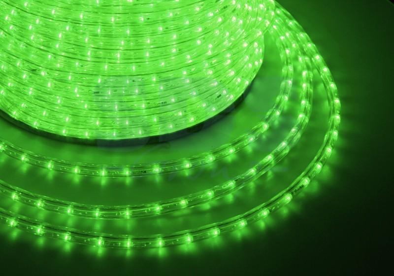 Дюралайт LED, постоянное свечение (2W) - зеленый, 30 LED/м, бухта 100м