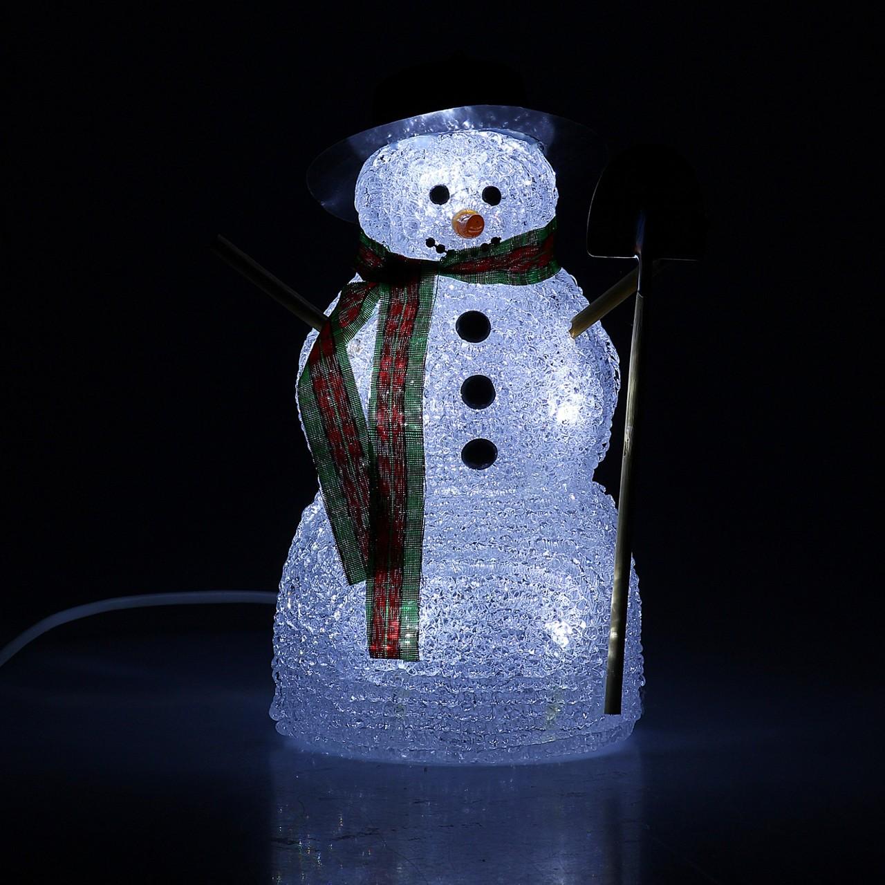 Снеговик с лопатой width=