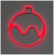 Новогодний шар красный