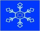 Мотив Снежинка из светодиодного дюралайта, без динамики