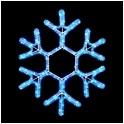 Мотив Снежинка из светодиодного дюралайта, без