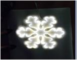 Мотив Снежинка из светодиодной ленты SMD и оргстекла, размер 0,68*0,6м