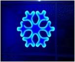Мотив Снежинка из светодиодной ленты SMD и оргстекла, размер 0,8*0,7м