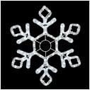 Мотив Снежинка из светодиодного дюралайта, без динамики. IP44