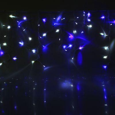 Гирлянда Бахрома улич. УМС, Ш:3 м, В:0,6 м Бело-синяя