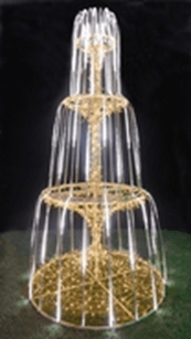 Магнолия в виде фонтана led-em-006