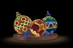 Композиция Новогодние шары LED-EM-018