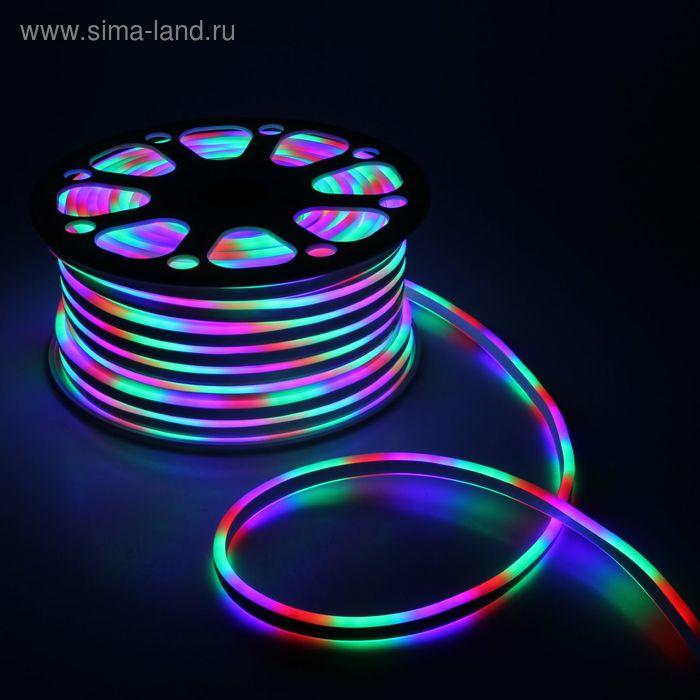 Гибкий неон 8 х 18 мм, 50 м. LED-120-SMD5050, 220 V, МУЛЬТИ
