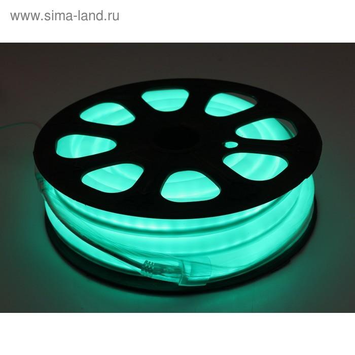 Гибкий неон 12 x 24 мм, 10 м. LED/м-80, 220V, ЗЕЛЕНЫЙ