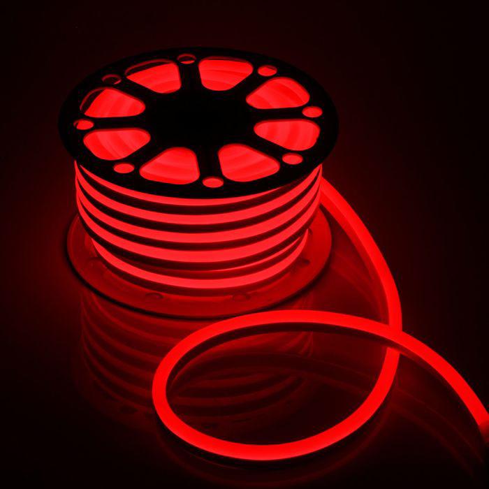 Гибкий неон 15 х 25 мм, 25 м. LED-120-SMD2835, 220 V, ЗЕЛЕНЫЙ