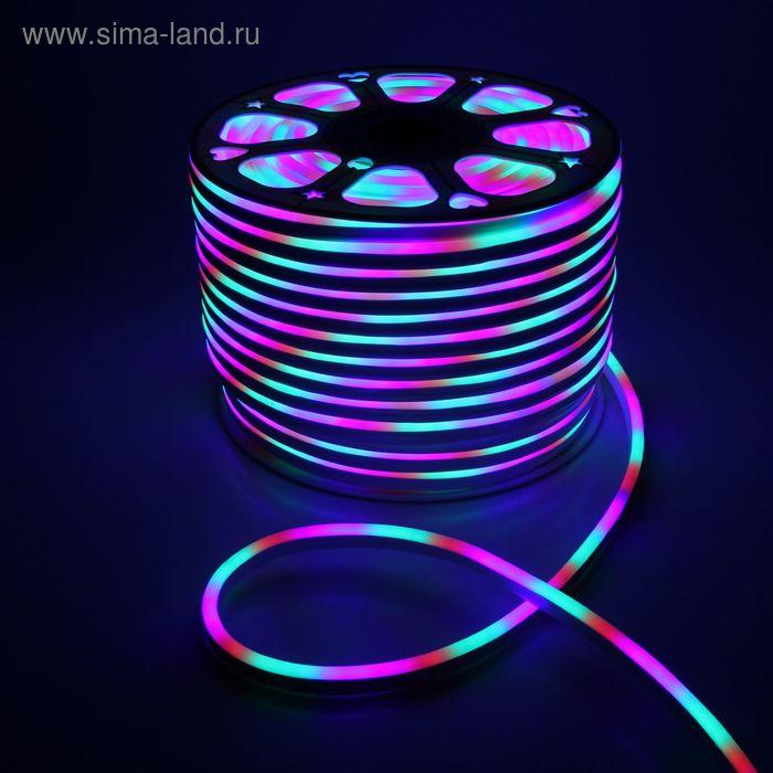 Гибкий неон 8 х 16 мм, 100 м. LED-120-SMD5050, 220 V, МУЛЬТИ