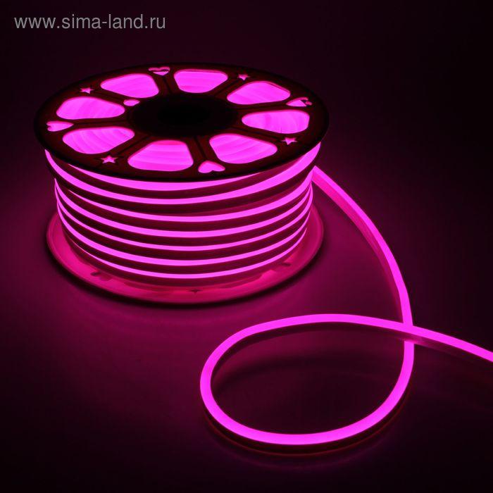 Гибкий неон 8 х 16 мм, 50 м. LED-120-SMD2835, 220 V, РОЗОВЫЙ