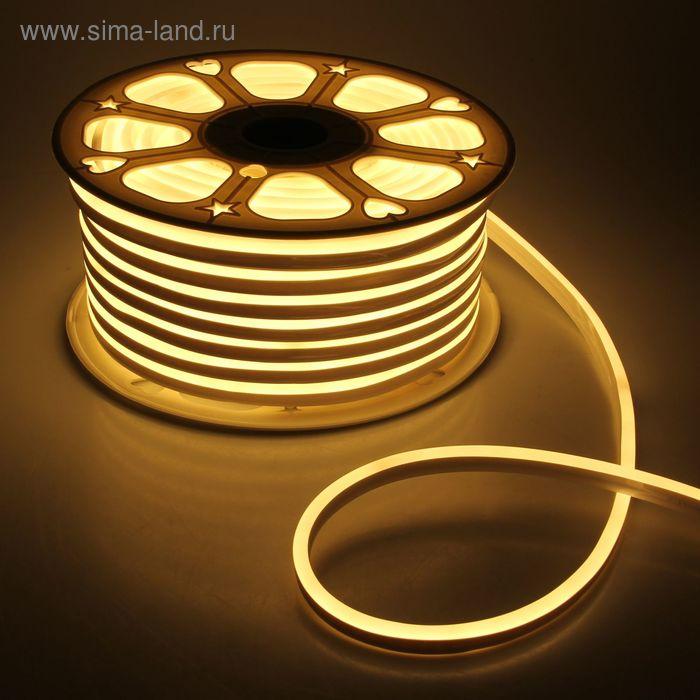 Гибкий неон 8 х 16 мм, 50 м. LED-120-SMD2835, 220 V, ТЕПЛЫЙ БЕЛЫЙ