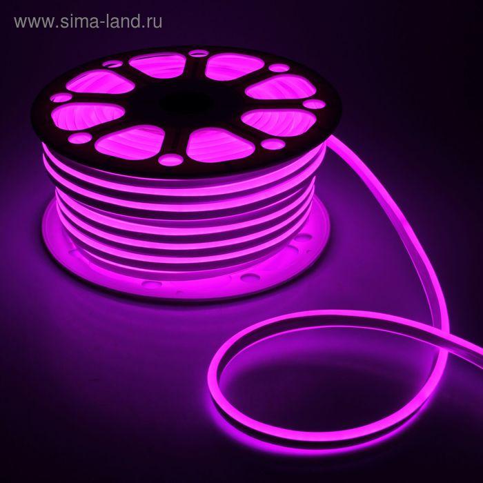 Гибкий неон 8 х 18 мм, 50 м. LED-120-SMD2835, 220 V, РОЗОВЫЙ