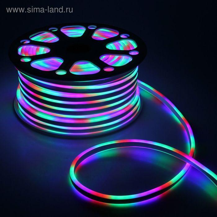 Гибкий неон 8 х 16 мм, 50 м. LED-120-SMD5050, 220 V, МУЛЬТИ
