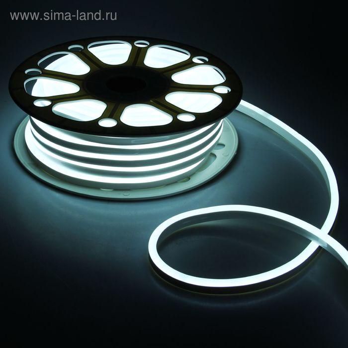 Гибкий неон 8 х 16 мм, 25 м. LED-120-SMD2835, 220 V, БЕЛЫЙ
