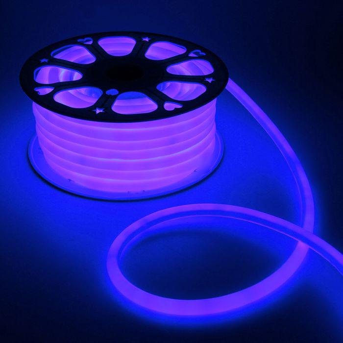 Гибкий неон 16 мм, 25 м. LED-120-SMD2835, 220 V, СИНИЙ