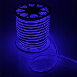 Гибкий неон 8 х 16 мм, 100 м. LED-120-SMD2835, 220 V, СИНИЙ