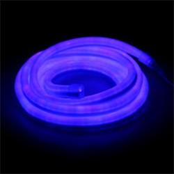 Гибкий неон 12 x 24 мм, 5 м. LED/м-80, 220V, СИНИЙ