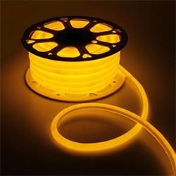 Гибкий неон круглый D 16 мм, 25 м. LED-120-SMD2835, 220 V, ЖЕЛТЫЙ