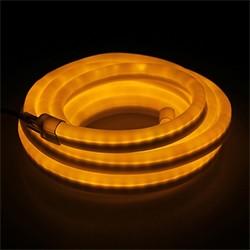 Гибкий неон, 12 x 24 мм, 10 м. LED/м-80, 220V, ЖЕЛТЫЙ